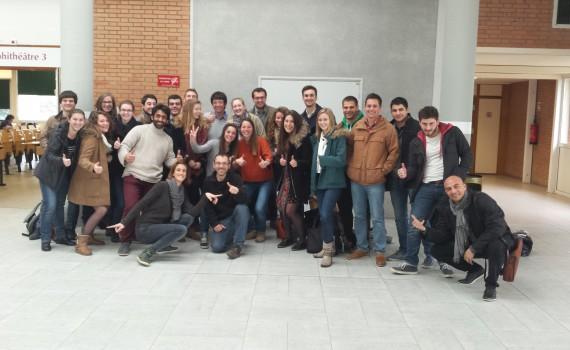 La classe de l'INP qui a participé à la semaine créativité autour de La Voie Bleue