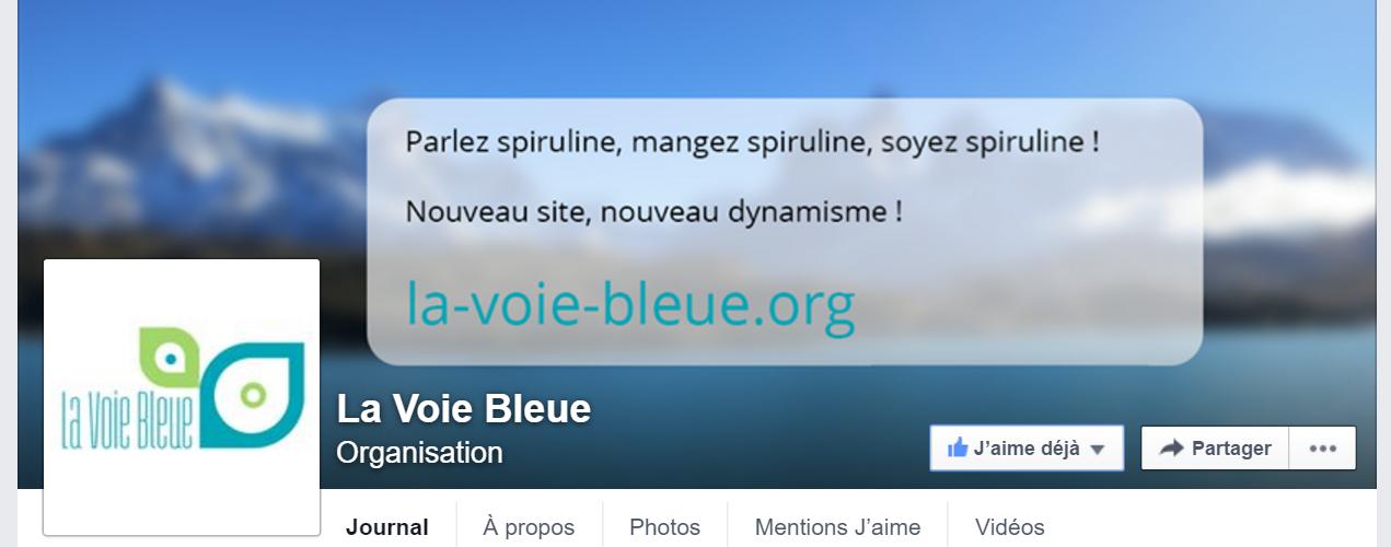 Page Facebook de La Voie Bleue
